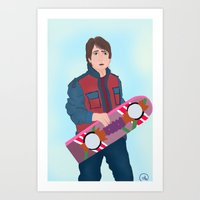 marty mcfly Art Prints featuring McFly by Ana Maia