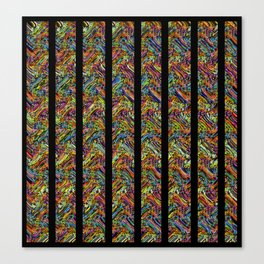 Even More Colors With Stripes Canvas Print