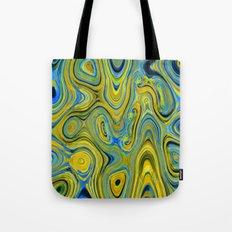 Liquid Yellow And Blue Tote Bag