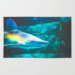Rainbow Shark Underwater Rug