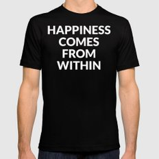 happiness comes from within Mens Fitted Tee MEDIUM Black