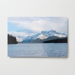Snow Covered Mountain Photography Print Metal Print