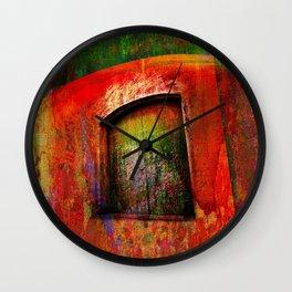 Door -Abstract Wall Clock