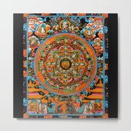 Mandala Buddhist 12 Metal Print