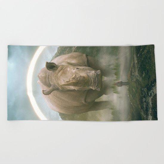 aegis   rhino Beach Towel