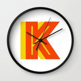 Letter K Wall Clock