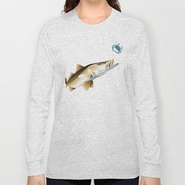 Snook Chasing a Blue Crab Long Sleeve T-shirt