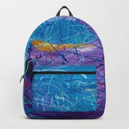 Purple/Blue Abstract Backpack