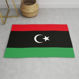 Official flag of the state of Libya, Authentic version to scale and color Rug