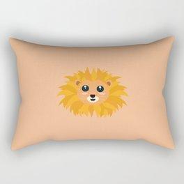 Kawaii lion head T-Shirt for all Ages D9dq4 Rectangular Pillow