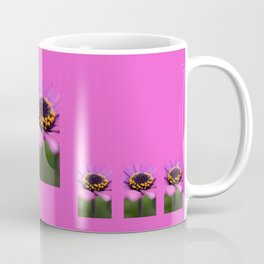 Pink flower, yellow black heart Coffee Mug
