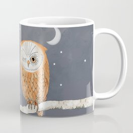 Winking Owl by the Light of the Moon Coffee Mug