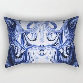 Blue Oil Gestalt Abstract I Rectangular Pillow