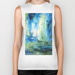 Contemporary Abstract Painting Spring Rain Biker Tank