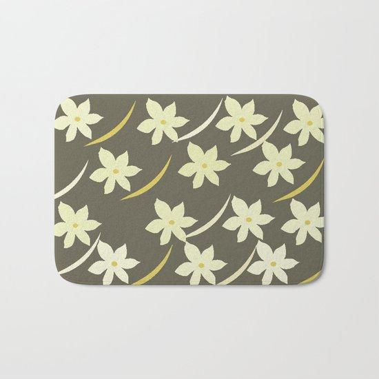 Golden Flower Abstract Bath Mat