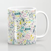 heels Mugs featuring Heels and Handbags (sweet) by Anna Deegan