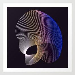 Black Galaxy Space Geometric popart abstract Art Print