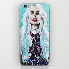 Fleur bleu iPhone & iPod Skin