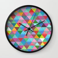 secret life Wall Clocks featuring in my secret life by lazy albino