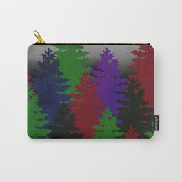 Misty Pine Trees Carry-All Pouch