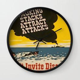 Vintage Naval Poster Wall Clock
