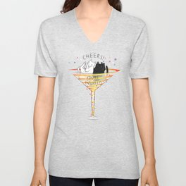 Cheers! Welcome to Martini Cats Party Unisex V-Neck