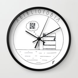 Simple love to books Wall Clock