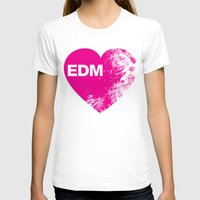 edm T-shirts featuring EDM Heart by DropBass