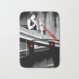 Stop the Freeway Overpass Scales Madness! Bath Mat