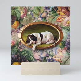 A small joke with a dog Mini Art Print