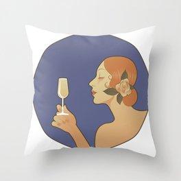 Spanish White Wine Throw Pillow