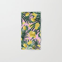 Summer Lemon Twist Jungle #6 #tropical #decor #art #society6 Hand & Bath Towel