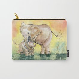 Colorful Mother's Love - Elephant Carry-All Pouch