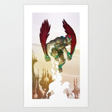 Stratos - He-Man's Flying Friend  Art Print