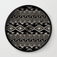 navajo Wall Clocks featuring Navajo by Stephanie Le Cocq