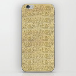 Golden Celtic Pattern on canvas texture iPhone Skin
