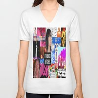 birthday V-neck T-shirts featuring birthday by Aldo Couture
