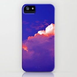 """""""Thunder Clouds #2"""" with poem: Staying With Me #2 iPhone Case"""