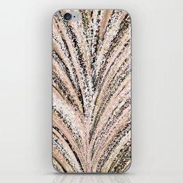 Rose Gold and Glitter Brushstroke Bursts iPhone Skin