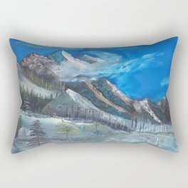 Cloudy Mountaintop Rectangular Pillow