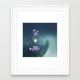 Tropical Fish and Wave Framed Art Print