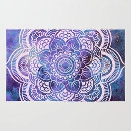 Galaxy Mandala Purple Lavender Blue Rug