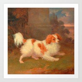 dog painting Blenheim spaniel Art Print