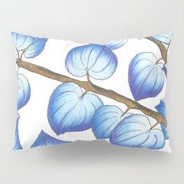 Breezy Blue Leaves Pillow Sham