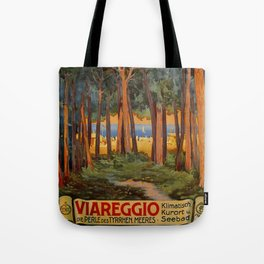 Viareggio woods and sea Tote Bag