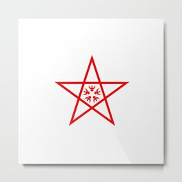 flag of nagasaki Metal Print