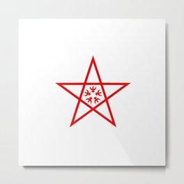 flag of nagasaki Metal Print