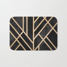 Art Deco Black Bath Mat