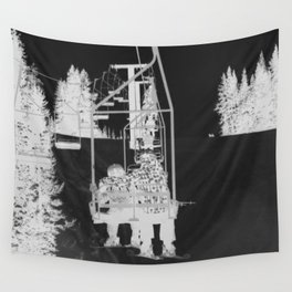Inverted Ski Lift Wall Tapestry