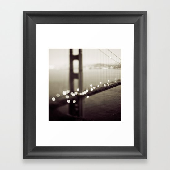 Meet Me In San Francisco (Black and White Edition)  Framed Art Print